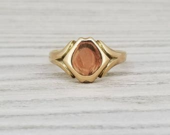 Victorian signet ring in 9k gold