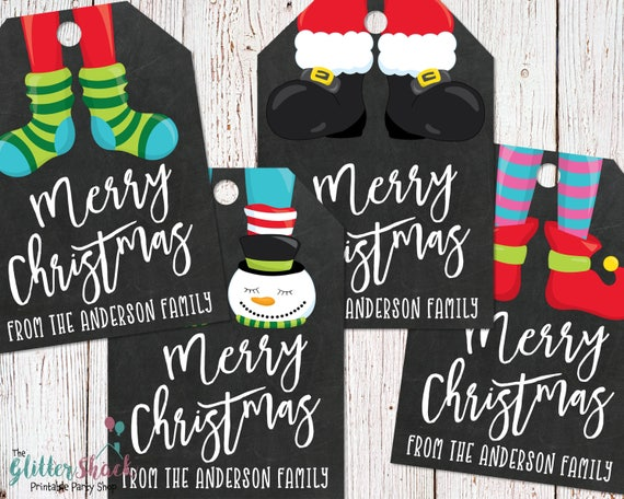 Personalized Printable Merry Christmas Gift Tags