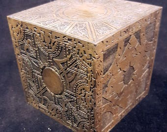 """Hellraiser """"The Box"""" - Functional Puzzle Box - Storage Box - Horror Movie Inspired - Made from Hard Maple - Choose from 3 Different Puzzles"""