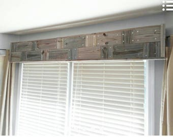 Barn wood window cornice