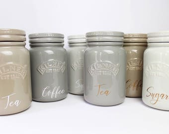 Personalised Ceramic Kilner Kitchen Canisters