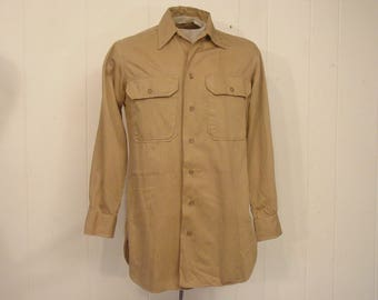Vintage shirt, military shirt, 1940s shirt, WWII shirt, vintage clothing, small