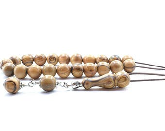 Olive Wood Komboloi, Worry Beads, Greek Komboloi, Olive Wood Beads, Gift for Dad, For Him, Gift from Greece, Gift Wrapping, Tesbih