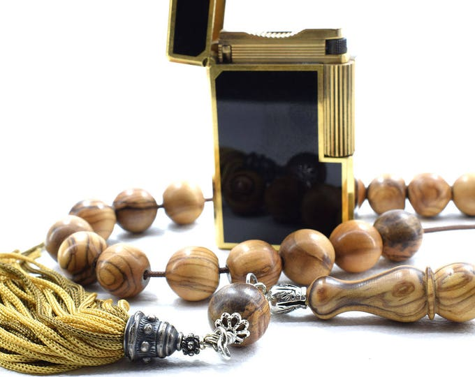 Olive Wood Komboloi, Worry Beads, Greek Komboloi, Olive Wood Beads, Stress Relief, Handmade Tassel, Made in Greece, Gift for Dad