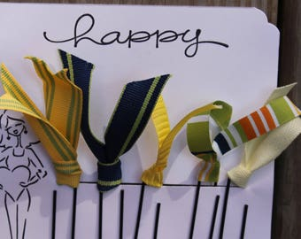 Planner Clips, Planner accessories, Happy Planner clips, yellow, blue, green diary accessories, Ribbon Planner Clip, journaling, SET of 5