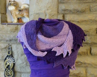 Shades of Purple Hitch-hiker Scarf