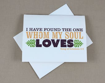 Whom My Soul Loves Broadfold Thank You Cards with A2 envelopes - JA1