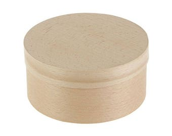 Round wooden box  - 4.72 х 2.36 in / 120*60 mm