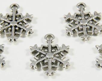 """10 charms pendant """"Snowflake"""" pattern"""
