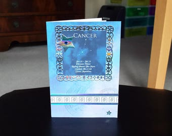 Cancer Horoscope Birthday Card - Zodiac/Star Sign -luxury personalised unique quality special astrological UK