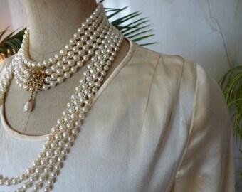 1920s Cream Satin Wedding Dress, antique dress, Bridal Gown, 20s, antikes Hochzeitskleid