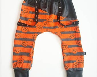 Pumpkin rockers with leather  (harem style)