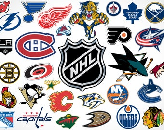 Precut Customized Hockey Team Logos- Tell us the TEAM or TEAMS you want - Edible images for cakes, cupcakes and cookies
