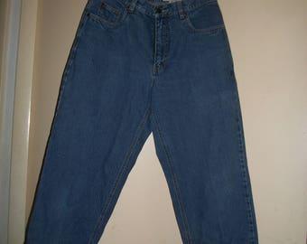 Vintage 90s Eddie Bauer High Waist Denim Capri Pants Size 10