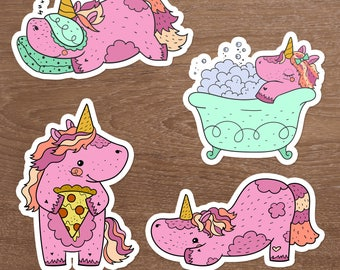 Bliss the Unicorn Die Cuts, Set of 4, Plantasia Friends, The Unicorn Squad