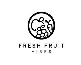 Premade Logo, Modern Logo, Food Blog Logo, Premade Logo Food, Fruit Logo, Health Logo, Nutrition Logo, Circle Logo Design, Farm Organic Logo