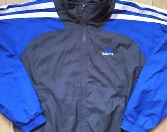 Adidas 90's Vintage Mens Tracksuit Top Jacket
