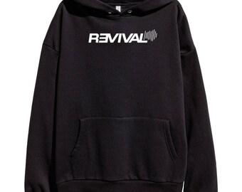 Eminem Revival White Logo Hoodie Classic Hip Hop Rap Vintage Style Sweatshirt Revival Slim Shady Records Aftermath Entertainment Detroit