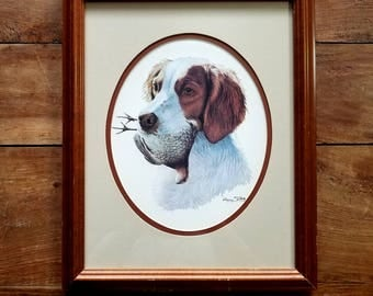 Harry Tollas Signed Print, Brittany Spaniel, Dog Print, Dog Art, Harry Tollas