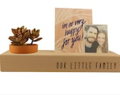 Our Little Family // Wood Photo Blocks // Wood Photo Holder // Succulent Planter