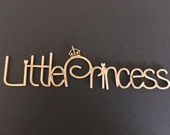 "Laser cut Chipboard ""little princess """