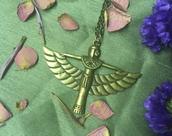 Egyptian Goddess Isis Pendent On Chain