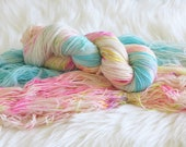 Poolside Hand Dyed Fingering Weight Sock Yarn for Knitting and Crochet