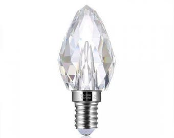 E14 3W LED Dimmable Crystal Candle Bulb 2700K