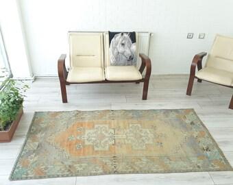 Oushak Turkish Rug kilim  Home  Living Room Office Decor  Turkish Kilim Rug Handwoven Anatolian Kilim rug Color rug Pink 78 x 40 inches