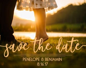 Sunset Save The Date Postcard