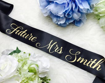 Bride to be sash, Bachelorette sash, bridal sash, bridesmaid sash, bridal party sash, wedding sash, custom sash, gift for bride, future mrs