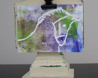 A Colourful Horse – Acrylic – An ACEO Original