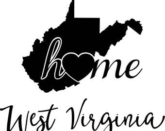 west virginia state map digital file svg png jpg eps vector graphic clip art wv