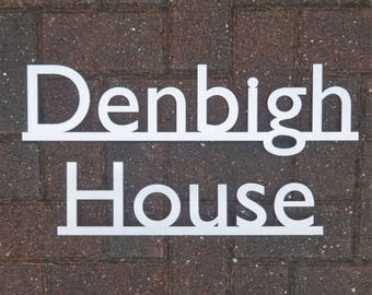 Stainless Steel House Name