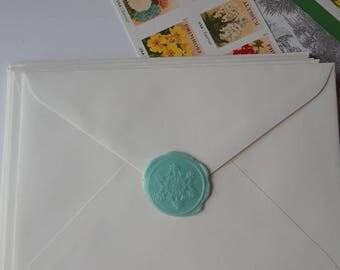 "Christmas Snowflake Winter Snow wedding party invitation self adhesive wax seal peel sticker 1"" x5"