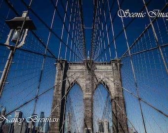 Brooklyn Bridge with Lamp Post