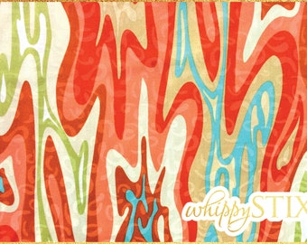 Abstract Fabric By the Yard, Desert Bloom by Jane Dixon Andover Fabrics 5239, BTY Psychedelic Swirls Cotton Quilting Fabric, Hard to Find