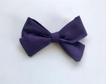 Plum hair bow