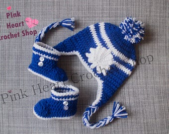 eea505c2d94c Toronto Maple Leafs Crochet bébé chapeau, chapeau de Toronto, au crochet,  bonnet pour