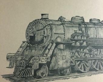 Jim Loudon train sketch 100/500