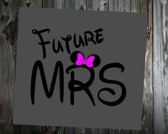 Disney Future Mrs Vinyl Decal