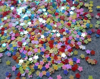 3mm Flower sequins, Flower confetti, AB plated sequins, Flower sequins, Sequin confetti, Embellishments, Scrapbooking, Flowers, Mixed colour
