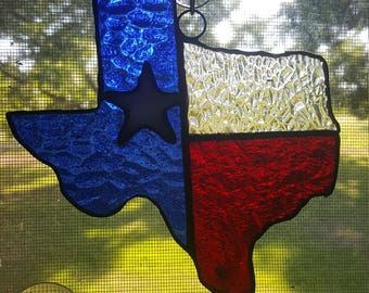 """4""""X4""""  stained glassTexas"""