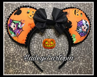 Halloween Ears, halloween Mouse Ears, ready to ship