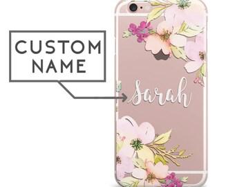 iPhone 8 case iPhone 8 Plus case iPhone X case clear floral personalized iPhone 7 plus case iPhone 6s case iPhone 6 plus case iPhone cas a25