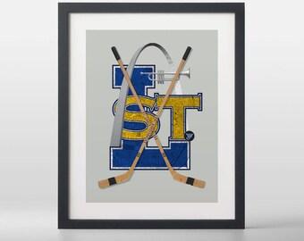St. Louis Blues-inspired Hockey Art Print