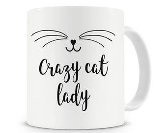 Crazy Cat Lady Mug, Cat Lover, Cat Gift, Cat Mug, Coffee Mug, Cat Gifts,