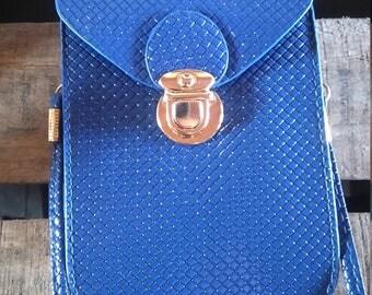 evening bag brilliant blue color