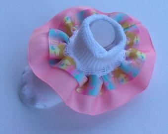 Unicorn ruffle socks, infant ruffle socks, character socks, school socks, party socks, unicorn grosgrain ribbon, baby socks, birthday socks