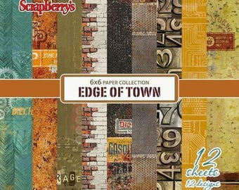 12 papers 15.2 x 15.2 cm SCRAPBERRY's EDGE OF TOWN